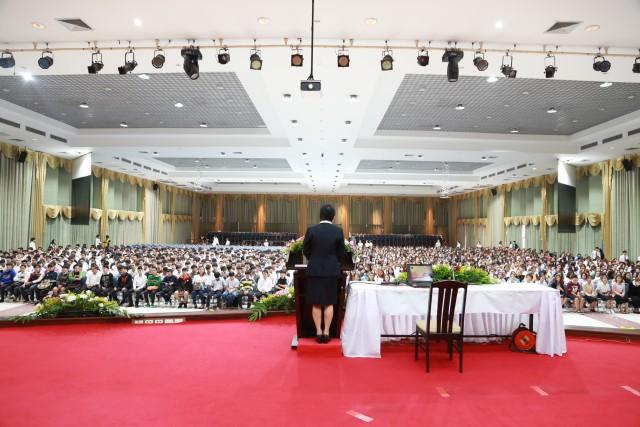 มร.ชม. จัดพิธีปฐมนิเทศนักศึกษาใหม่ ภาคพิเศษ ประจำปีการศึกษา 2559