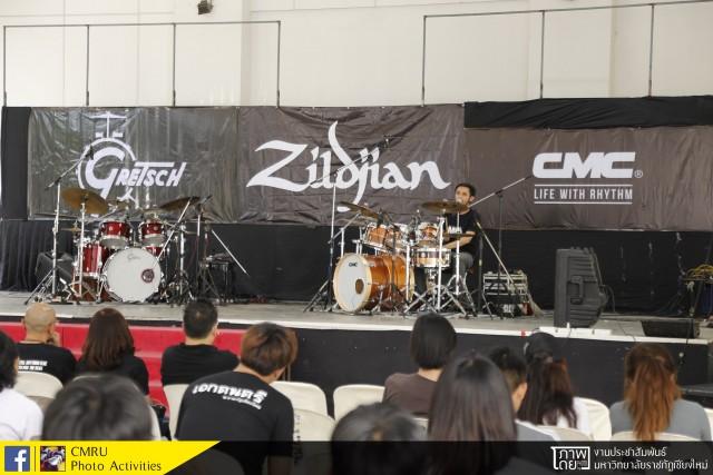 ภาควิชาดนตรีและศิลปะการแสดง มร.ชม. จัดกิจกรรม Workshop M.I.D. (Man In Drum) Drum Workshop