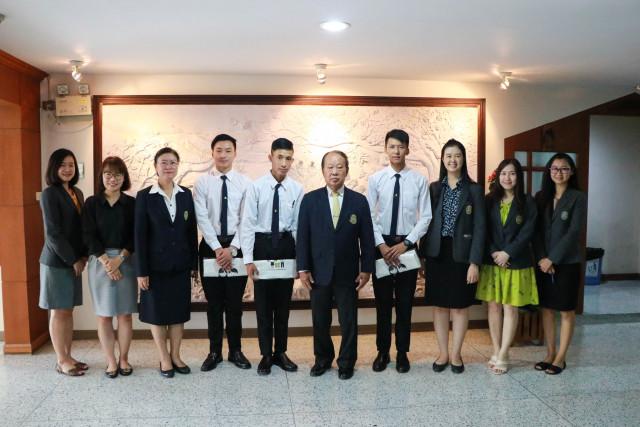 คณะผู้บริหาร ม.ราชภัฏเชียงใหม่ กล่าวต้อนรับและให้โอวาทแก่นักศึกษาทุนราชอาณาจักรภูฏาน  ที่เดินทางมาศึกษายังวิทยาลัยนานาชาติ มหาวิทยาลัยราชภัฏเชียงใหม่