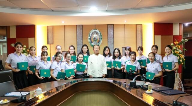 ม.ราชภัฏเชียงใหม่ จัดพิธีปัจฉิมนิเทศ มอบประกาศนียบัตรแก่นักศึกษาโครงการแลกเปลี่ยนจากมหาวิทยาลัยไป่เซ่อ สาธารณรัฐประชาชนจีน ประจำปีการศึกษา 2560