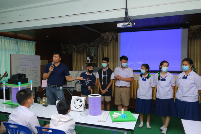 adiCET จัดอบรมการสร้างความตระหนักถึงปัญหาฝุ่น PM 2.5  ณ โรงเรียนจอมทอง