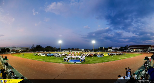 ผู้บริหาร มร.ชม. ร่วมพิธีเปิดการแข่งขันกีฬาทัวร์นาเมนต์ของมหาวิทยาลัยในจังหวัดเชียงใหม่ ครั้งที่ 7