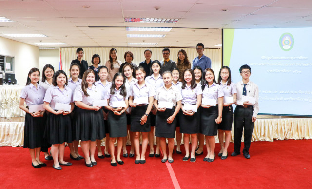 พิธีปฐมนิเทศและมอบทุนการศึกษา นักศึกษาโครงการแลกเปลี่ยน ม.ราชภัฏเชียงใหม่  ภาคเรียนที่ 2 ประจำปีการศึกษา 2561