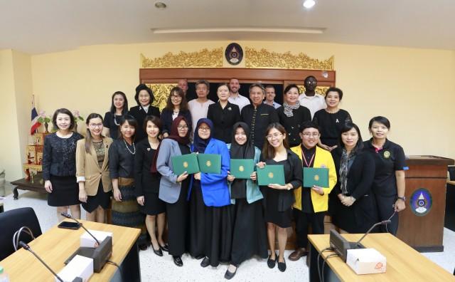 สำนักงานวิเทศสัมพันธ์ จัดพิธีปัจฉิมนิเทศนักศึกษาโครงการแลกเปลี่ยนนักศึกษาครูฯ