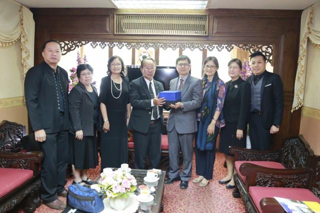 ผู้บริหาร มร.ชม. ให้การต้อนรับ Dr.Ping-Chang lin อธิการบดีพร้อมด้วยคณะผู้บริหารจากมหาวิทยาลัย Tainan University of Technology (TUTech) ในโอกาสเดินทางมาเยือน มหาวิทยาลัยราชภัฏเชียงใหม่