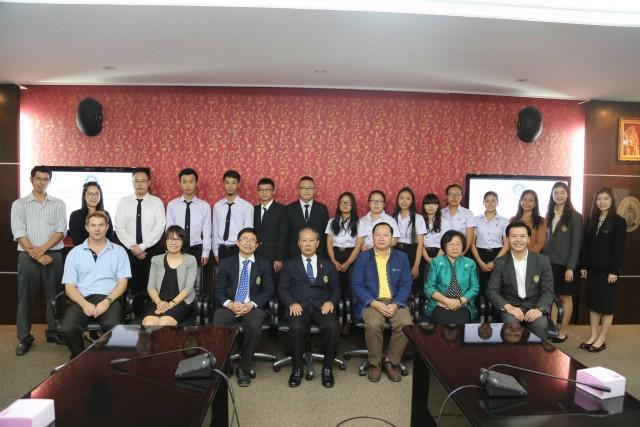 มร.ชม. ปัจฉิมนิเทศนักศึกษาโครงการแลกเปลี่ยนจากประเทศจีนและญี่ปุ่น