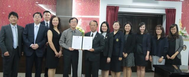 คณะผู้บริหาร มร.ชม. ร่วมต้อนรับ National Chin-Yi University of Technology