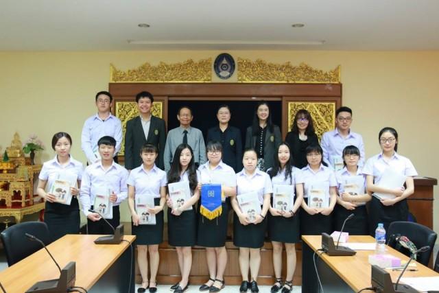 มร.ชม. จัดพิธีปฐมนิเทศนักศึกษาโครงการแลกเปลี่ยนจากสาธารณรัฐประชาชนจีน  ประจำปีการศึกษา 2559