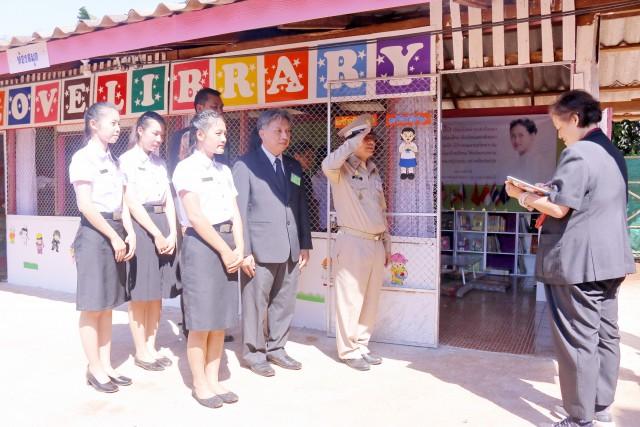 สมเด็จพระเทพรัตนราชสุดาฯ สยามบรมราชกุมารี ทรงติดตามการดำเนินงานโรงเรียนตำรวจตระเวนชายแดนบ้านใหม่พัฒนาสันติ