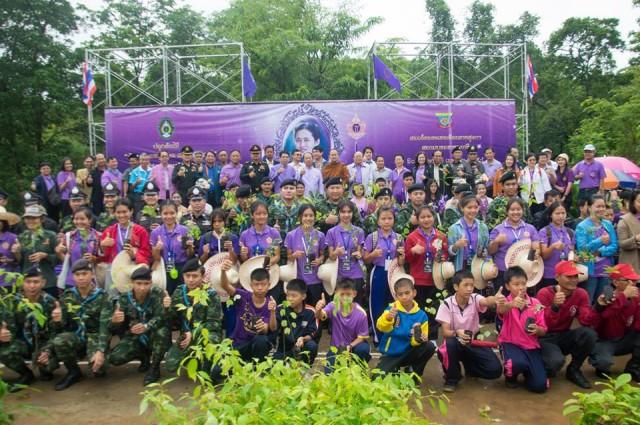 อธิการบดี เป็นประธานเปิดล้านกล้ามงคล เติมที่พื้นที่สีเขียวที่วิทยาลัยแม่ฮ่องสอน