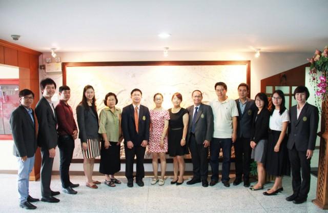 รองฯ ผศ.ดร.ธรรมกิตติ์ ต้อนรับคณะ Honghe University ปรึกษาหารือความร่วมมือทางการศึกษา