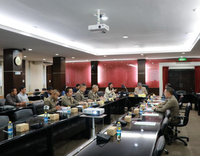 ม.ราชราชภัฏเชียงใหม่ จัดการประชุมคณะกรรมการฝ่ายจราจร พิธีพระราชทานปริญญาบัตรมหาวิทยาลัยราชภัฏเขตภาคเหนือ ประจำปี 2559 - 2560