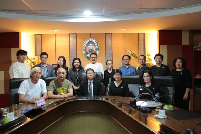 คณะผู้บริหารมหาวิทยาลัยราชภัฏเชียงใหม่ให้การต้อนรับคณะกรรมการผู้จัดงาน Chiang Mai CAD Festival 2017 หารือแนวทางการจัดงานส่งเสริมการท่องเที่ยวเชิงศิลปะและวัฒนธรรม
