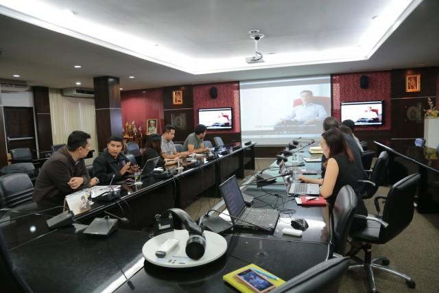สำนักดิจิทัลเพื่อการศึกษา และงานประชาสัมพันธ์ มร.ชม.  ร่วมหารือแนวทางการพัฒนาสื่อมหาวิทยาลัยด้วยระบบ Digital Signage