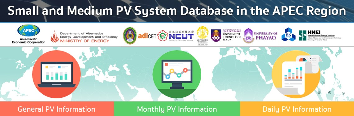 Small and Medium PV System Database in the APEC Region